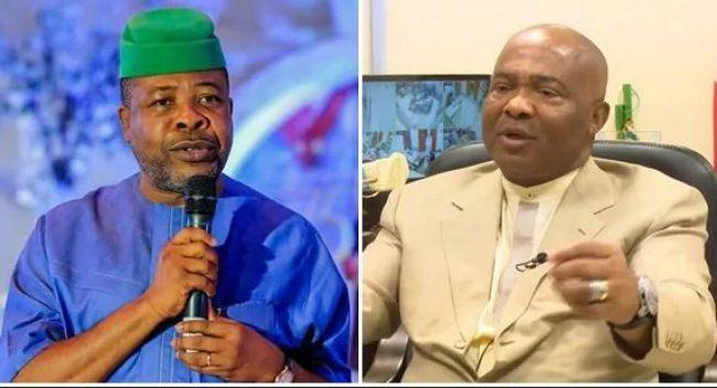 Emeka Ihedioha and Senator Hope Uzodinma