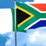 Nigeria and South Africa Flags